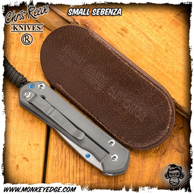 Chris Reeve Folder Leather Slip Sheath - Small (Small Sebenza, Small Inkosi, Ti-Lock, Mnandi)