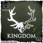 Kingdom Armory Antler Logo Die Cut Sticker - White