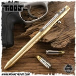 Fellhoelter TiBolt Bolt Action Pen - Brass Deluxe