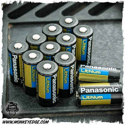 Panasonic 123A Lithium Batteries (12 Batteries)