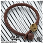 Leather Braided Bracelet For Beads - Mahogany