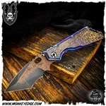 Mick Strider Custom XL Nightmare Grind w/Hamon and Damascus Clip