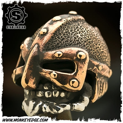 Starlingear Bead: Barbarian Custom Textured (Silver/Copper)