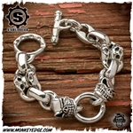 Starlingear Bracelet: Handcuff and Plain Link w/2 Slickster