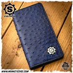 Starlingear 100 Year Wallet Long - Blue Ostrich