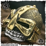 Starlingear Bead: Barbarian Textured - Silver/Brass