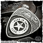 Starlingear McSwain Guitar Pick: Made in America - Silver