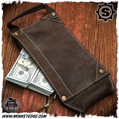 Starlingear Leather Legal Tenderizer Bank Bag - Flame Stealth