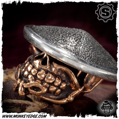Starlingear Bead: Slickster Samurai - Copper/Silver Textured