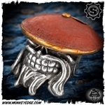Starlingear Bead: Kung Fu Monk - Silver/Copper Red Patina