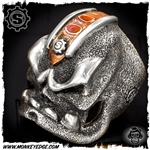 Starlingear Ring: Motherfucker Puncher - Mokume/Silver Mohawk w/Badge Custom Ryk Personal Collection