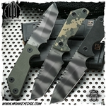 Strider Knives Fixed: EBL-T w/Spine Serrations Green
