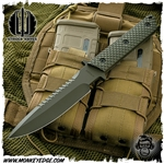 Strider Knives Fixed: MT w/Spine Serrations Gunner Grip Cerakote Green