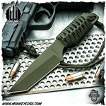 Strider Knives Fixed: DB-L Cord Wrapped Cerakote Green