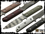 Frag Pattern G10 Grips For Strider Fixed Blades Medium