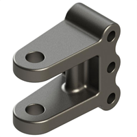 "20,000 lb Adjustable Clevis Hitch - 1"" Pin Hole"