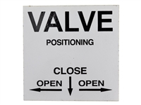 PJ Tilt Trailer Valve Position Decal