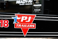Small PJ Trailers Logo Sticker