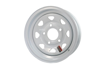 "12"" White Spoke Wheel 5 lug on 4.5"""