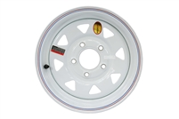 "13"" White Spoke Wheel 5 lug on 4.5"""