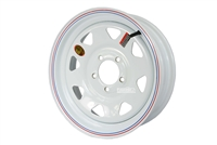 "15"" White Spoke Wheel 5-lug on 4.5"""