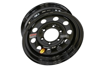 "15"" Black Modular Trailer Rim 6-lug on 5.5"""