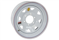 "16"" White Spoke Trailer Rim 6-lug on 5.5"""
