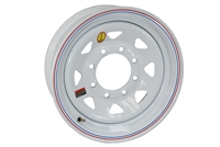"16"" White Spoke Trailer Rim 8-lug on 6.5"""