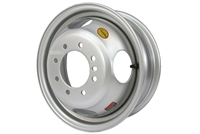 "16"" Tandem Dual Gray Steel Rim 8-lug on 6.5"" 4.75"" Pilot"