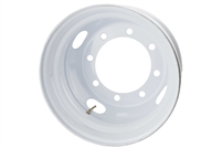"17.5"" Tandem Dual Steel White Modular Rim 8 on 275MM 8.70"" pilot"