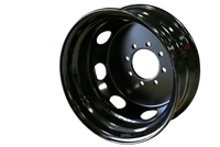"17.5"" Dual Steel Black Rim 8-lug on 6.5"" 4.75"" pilot"