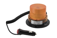 12 Volt Powered Amber Safety Beacon - Portable Magnetic Mount