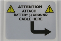 KTI Hydraulics Battery Ground Label