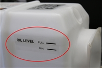 KTI Hydraulics Oil Level Sticker