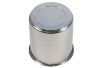 "3.19"" Stainless Steel Center Cap with Plug"