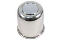 "3.75"" Stainless Steel Center Cap with Plug"