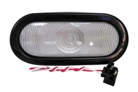 "6.5"" Sealed Oval Clear Backup Light"