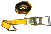 "2"" x 16' Ratchet & Strap with Wire Hook"