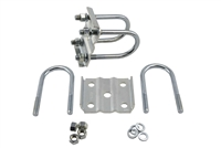 "2-3/8"" U-Bolt Kit For 3,500 lb Axle - Zinc Coated"