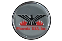 Phoenix USA Silver Replacement Logo for Wheel Simulators