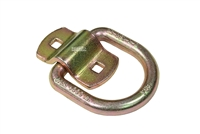 "3-3/8"" Wide Yellow Zinc Bolt-on Trailer D-Ring - 1/2"""