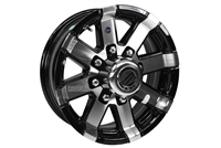 "16"" Aluminum Spoke Rim Black Accent 8-lug on 6.5"""