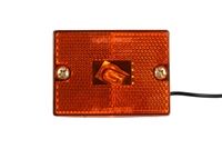 Amber Clearance Marker Light with Reflector