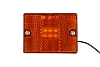 Amber LED Clearance Marker Light with Reflector