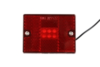 Red LED Clearance Marker Light with Reflector