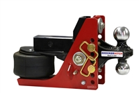 Shocker Hitch Air Ride Receiver Hitch with Combo Ball