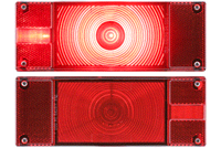 "Optronics ONE1 8"" rectangular LED Stop/Turn/Tail Light - Red - RH Side"