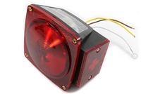 Optronics Square LED Stop/Turn/Tail Light - Red - LH