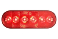 "6.5"" LED Oval Stop Turn & Tail Light - Red"