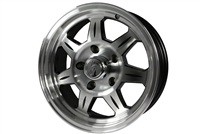 "15"" Aluminum Spoke Trailer Rim with Black Accents"